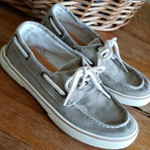 Sperry Canvas Top-siders boat shoes sz 1 tan